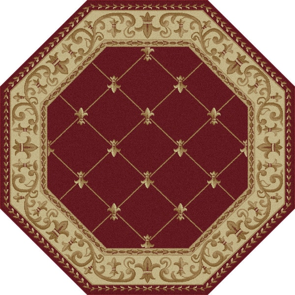 Octagonal Foyer Rug : Soho traditional border area rug  octagon