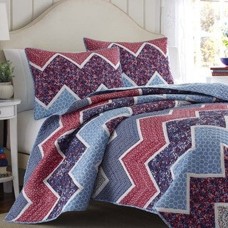 Laura Ashley Ainsley Navy Reversible Quilt