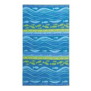 Swim Swam Oversized Jacquard Beach Towel (Set of 2)
