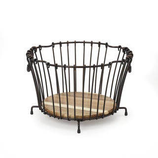 Gourmet Basic by Mikasa Vintage Round Stacking Nesting Basket