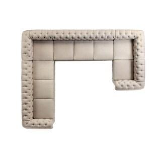Moser Bay Furniture Roll Arm 9-seat U Sectional Sofa Set