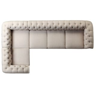 Moser Bay Furniture Garcia Collection Roll Arm 5 Seats Sectional Sofa Set