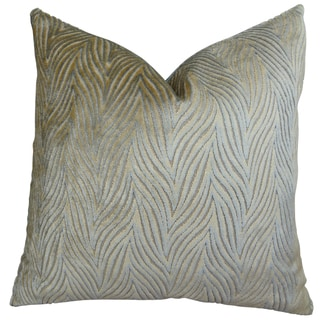 Plutus Aged Gold Handmade Double Sided Throw Pillow