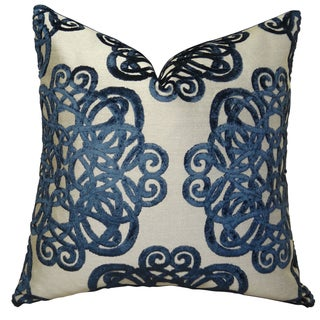 Plutus Archetype Sapphire Handmade Double Sided Throw Pillow