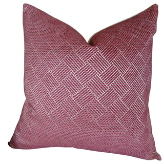 Plutus Marble Arch Fuchsia Hadmade Double Sided Throw Pillow