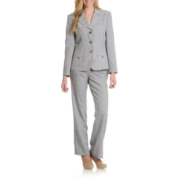 Danillo Women's Button Detail Front Pocket Pants Suit