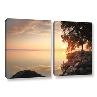 ArtWall Steve Ainsworth 'Renewal' 2 Piece Gallery-wrapped Canvas Set - Yellow