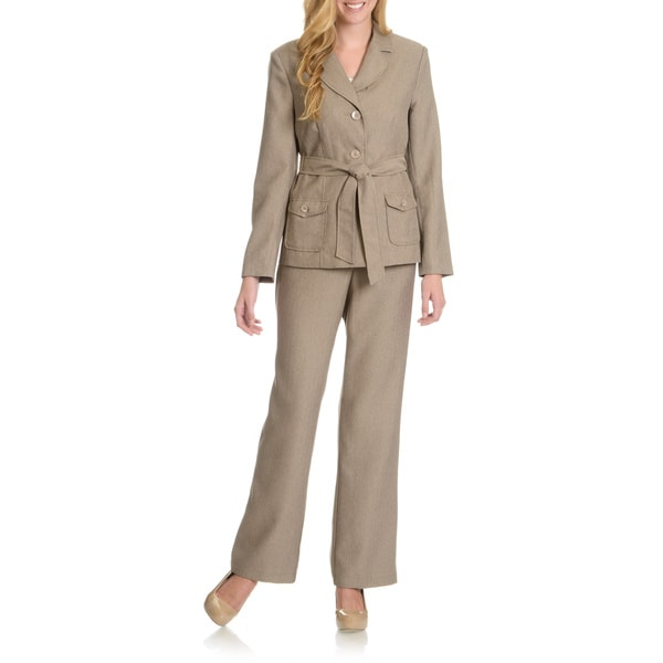 Danillo Women's Self Tie Twill Pants Suit