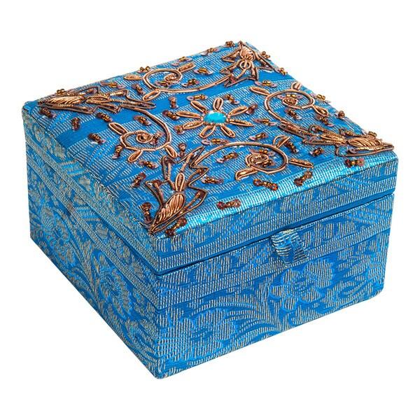 Handmade fabric jewelry box with gold trim india 4439c492 acbd 4a14 9133 8e710bd96eb7 600