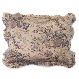 Fluer Toile Linen Pillow Sham