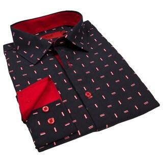 Elie Balleh Milano Italy Boys' Line Print Slim Fit Shirt