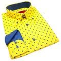 Elie Balleh Milano Italy Boys' Polka Dot Slim Fit Shirt