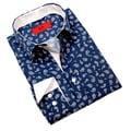Elie Balleh Milano Italy Men's Paisley Print Slim Fit Shirt