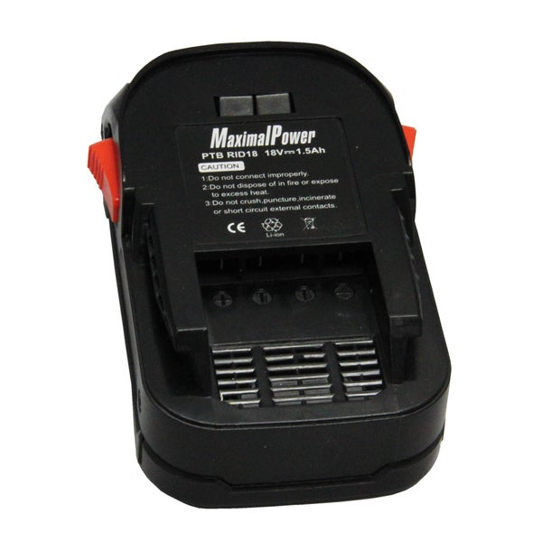 MaximalPower Power Tool Battery 18V AC840085 R840085 Hyper Lithium Ion 1.5 Ah