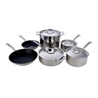MIU France Stainless Steel Cooper Core 10-piece Set