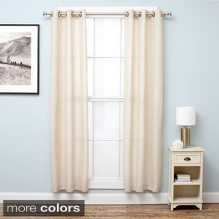 Home Fashion Designs Bridgewater Collection Chambray Room Darkening Grommet Curtain Panels - 38 x 63 or 84 inches - 2-Panel Set