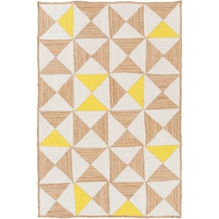 Hand-Woven St.Ives Geometric Reversible Jute Rug (8' x 10')