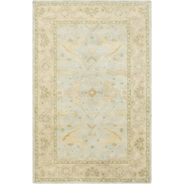 Hand-Tufted Minster Border Indoor Wool Rug (3'3 x 5'3)