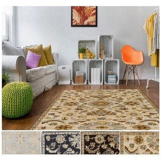 Hand-Tufted Wigton Floral Wool Rug (6' Square)