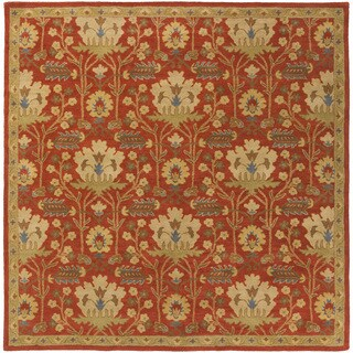 Hand-Tufted Widnes Floral Wool Rug (6' Square)