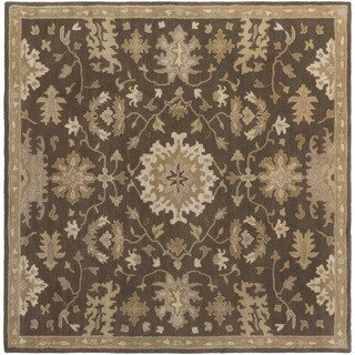 Hand-Tufted Tipton Floral Wool Rug (6' Square)