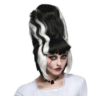 Bride of Frankenstein Black Beehive Wig
