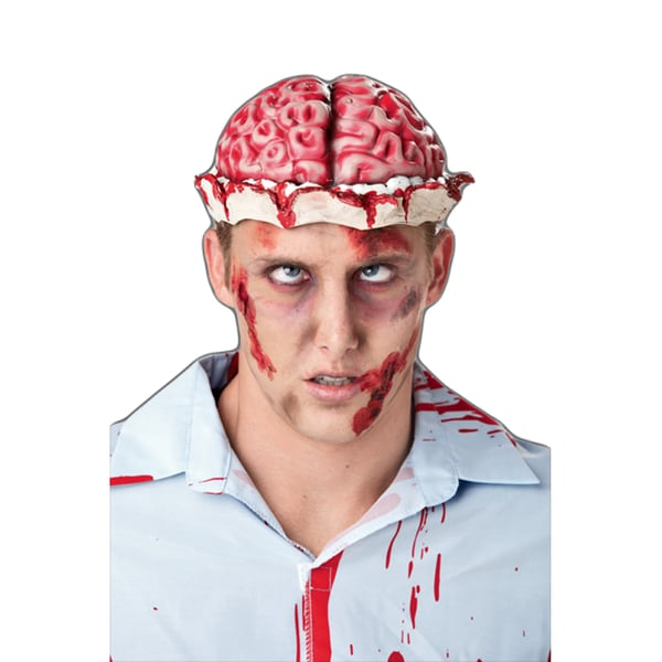 Zombie Brain Hat Costume