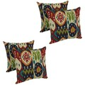 Blazing Needles Keyonna 17-inch Spun Polyester Outdoor Throw Pillows (Set of 4)