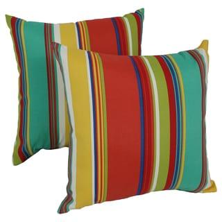Blazing Needles Westport 17-inch Spun Polyester Outdoor Throw Pillows (Set of 2)