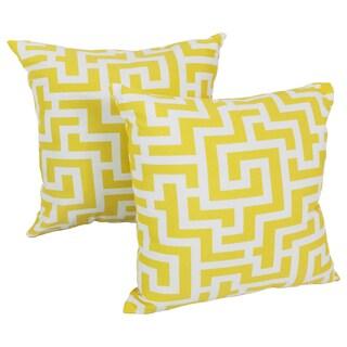 Blazing Needles Keyes 17-inch Spun Polyester Outdoor Throw Pillows (Set of 2)