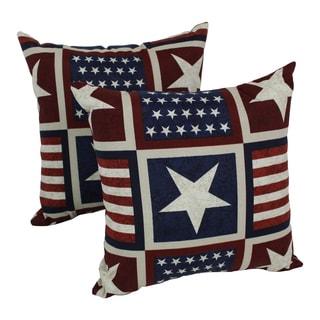 Blazing Needles Attleboro 17-inch Spun Polyester Outdoor Throw Pillows (Set of 2)