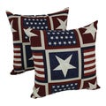 Blazing Needles Attleboro 17-inch Spun Polyester Outdoor Throw Pillows (Set of 2)