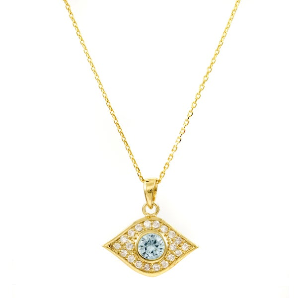 Brass Gold Evil Eye Necklace
