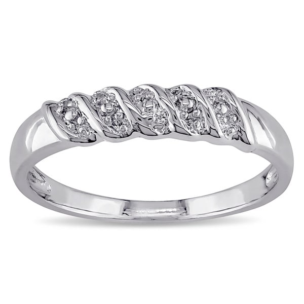 Miadora Sterling Silver Mens Ring