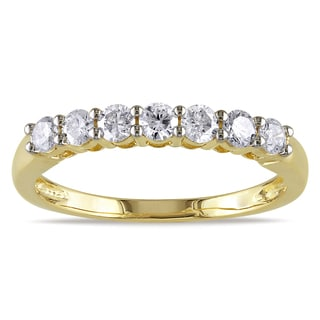 Miadora 10k Yellow Gold 1/2ct TDW Diamond Anniversary-style Stackable Wedding Band Ring (G-H,I2-I3)
