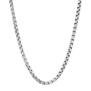 Fremada Sterling Silver High Polish Puffed Chain Necklace