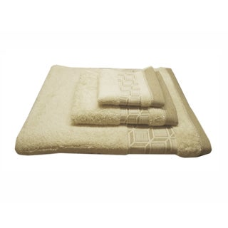 Jacquard 3-piece Towel Set - 5 Jacquard Border Designs