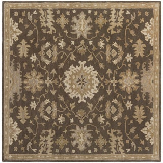 Hand-Tufted Tipton Floral Wool Rug (4' Square)