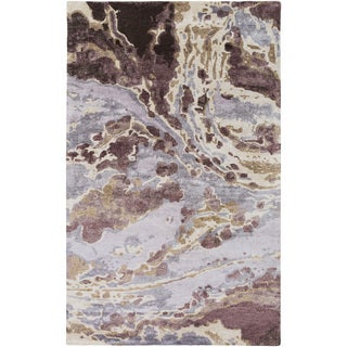 Hand-Tufted Jennie Abstract Banana Silk Rug (8' x 11')