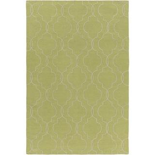 Hand-Woven Jaiden Geometric Pattern Wool Rug (9' x 13')