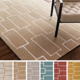 Hand-Tufted Hunter Geometric Pattern Viscose Rug (8' x 10')