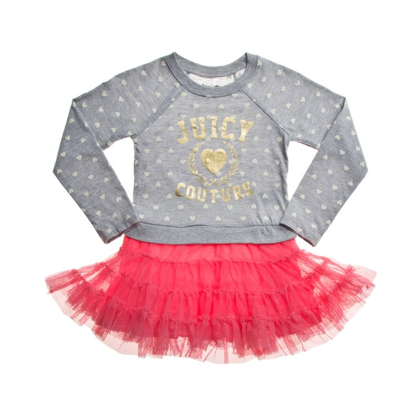 Juicy Girls' Grey/ Pink Tutu Dress