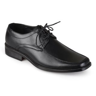 Boston Traveler Men's Faux Leather Square Toe Oxfords