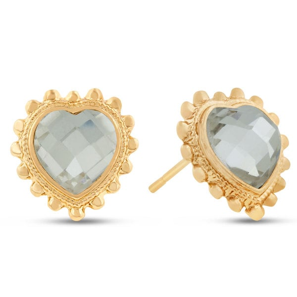 Swarovski Elements Heart Shape Stud Earrings, Pushbacks