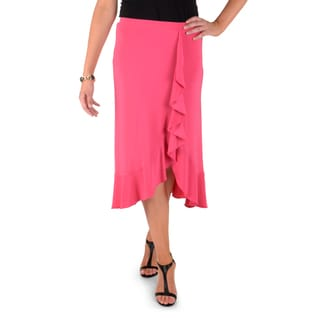 Timeless Comfort by Journee Ruffled Faux Wrap Skirt