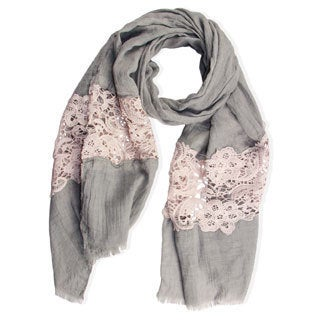 Saachi Women's Floral Lace Scarf (China)