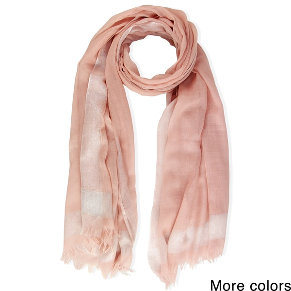 Saachi Women's Frayed Woven Lurex Trim Scarf (China)