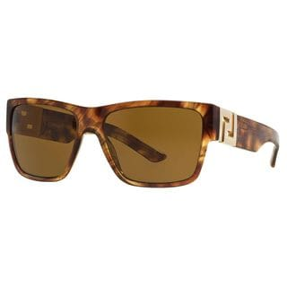 Versace Men's VE4296 Plastic Square Sunglasses