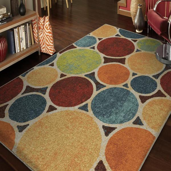 "Vibrance Collection Sumptuous Multi Olefin Area Rug (7'10"" x 10'10"")"