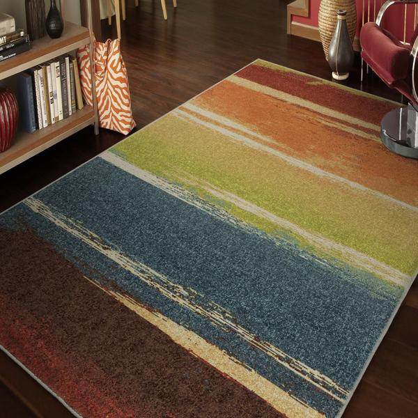 "Vibrance Collection Magnificent Multi Olefin Area Rug (7'10"" x 10'10"")"